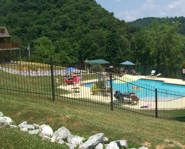 Twin Cove Resort Pool on Norris Lake